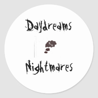 Daydreams and Nightmares Classic Round Sticker