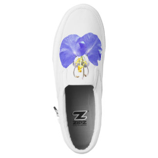 Dayflower asiático floral azul exquisito fresco zapatillas