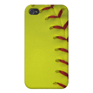 Dayglo Neon Yellow Softball iPhone 4/4S Cover