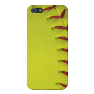 Dayglo Neon Yellow Softball iPhone SE/5/5s Case
