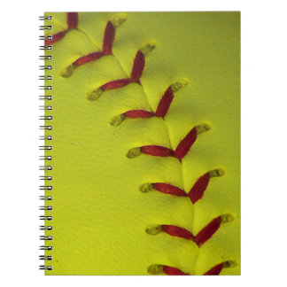 Dayglo Neon Yellow Softball Notebook