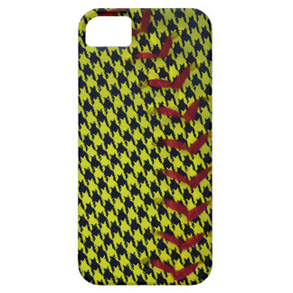 Dayglo Yellow and Houndstooth Softball iPhone SE/5/5s Case