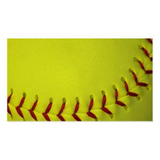 Dayglo Yellow Softball Business Card