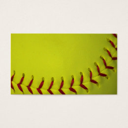 Dayglo Yellow Softball Business Card