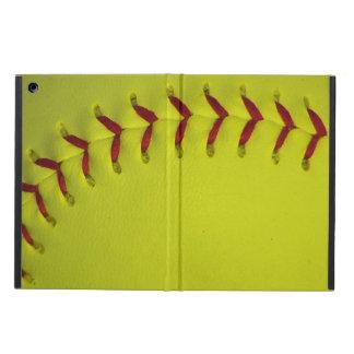 Dayglo Yellow Softball Case For iPad Air