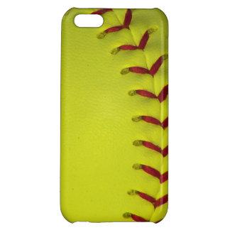 Dayglo Yellow Softball iPhone 5C Case