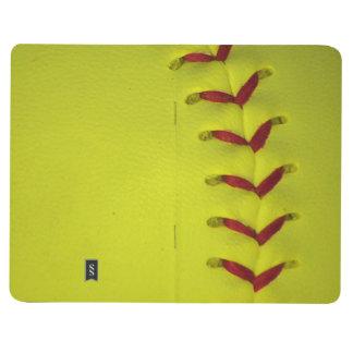Dayglo Yellow Softball Journal