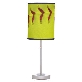 Dayglo Yellow Softball Desk Lamps