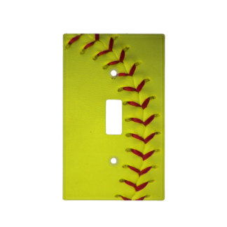 Dayglo Yellow Softball Light Switch Covers