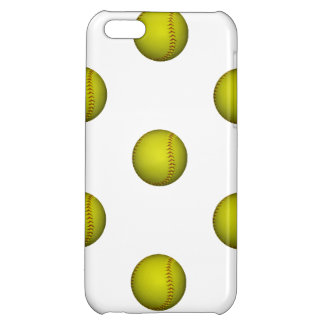 Dayglo Yellow Softball Pattern Case For iPhone 5C