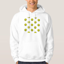 Dayglo Yellow Softball Pattern Hoodie