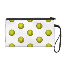 Dayglo Yellow Softball Pattern Wristlet Purse