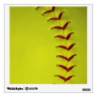 Dayglo Yellow Softball Wall Decal