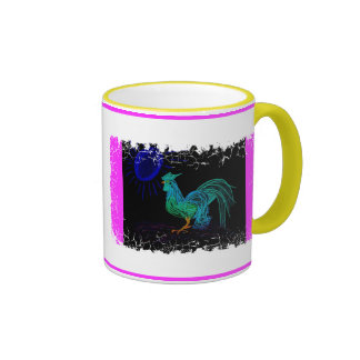 Dayglow Country Rooster Coffee Mug