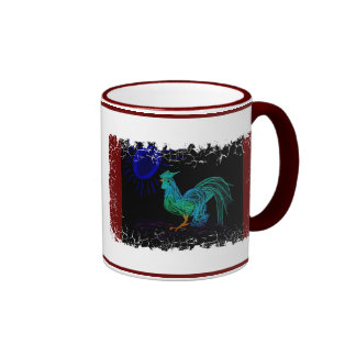 Dayglow Country Rooster Mugs
