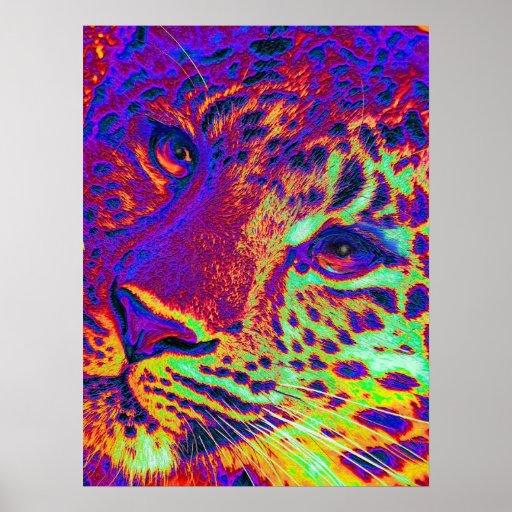 dayglow leopard poster