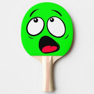 Dayglow verde asustado Emoji Pala De Tenis De Mesa