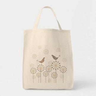Daylight Love Birds Grocery Tote Bag
