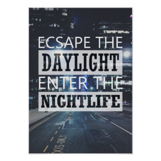Daylight Nightlife Urban City Poster