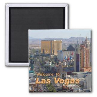 Daylight on the Las Vegas Strip 2 Inch Square Magnet