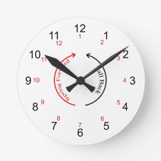 Daylight Saving Time Wall Clock