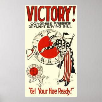 Daylight Savings Vintage Poster