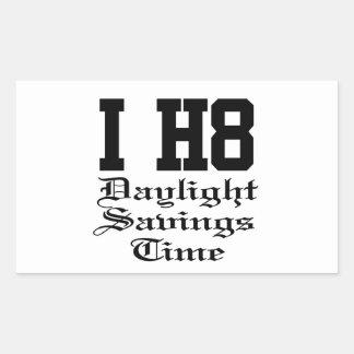 daylightsavingstime rectangular sticker