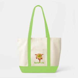Daylilies a ir tote bolsa de mano