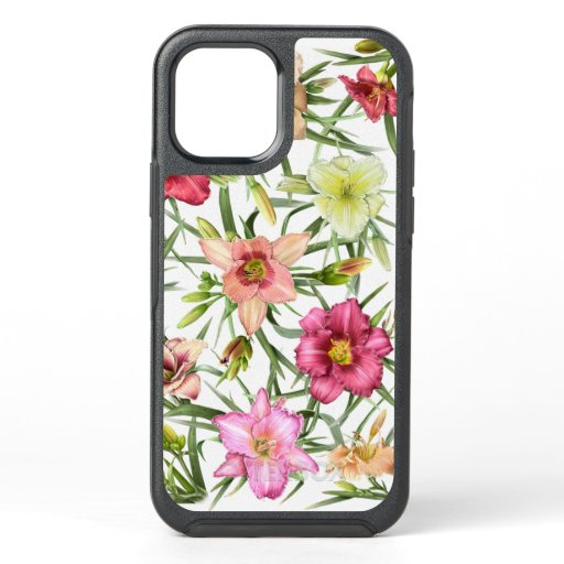 Daylilies All Over OtterBox Symmetry iPhone 12 Case