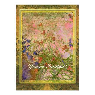 Daylilies and Stone Path Invitation
