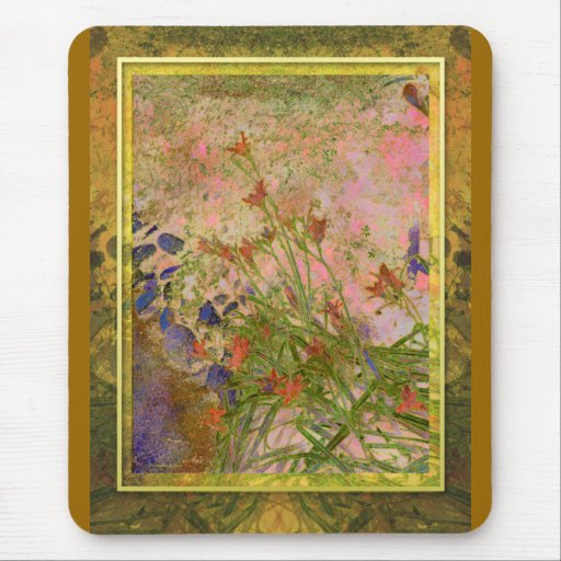 Daylilies and Stone Path Mouse Pad