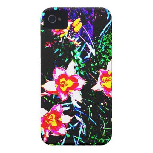 Daylilies de neón iPhone 4 funda