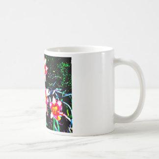 Daylilies de neón taza de café