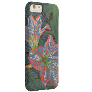"""DAYLILIES"" /DIGT.MANIP. PHOTOG./REDS,GREEN &BLUES TOUGH iPhone 6 PLUS CASE"