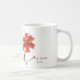 Daylilies enrrollados tazas de café