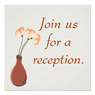 """Daylilies in a Red Vase Customizable Invitations 5.25"""" Square Invitation Card"""