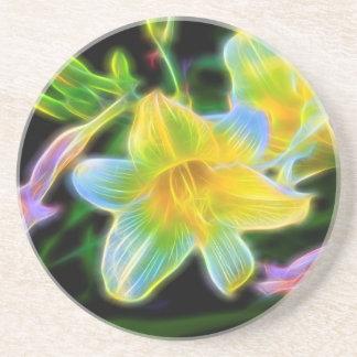 Daylilies In Bloom Sandstone Coaster