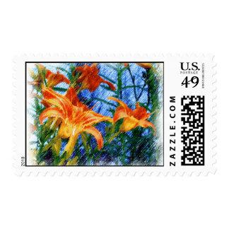 Daylilies Postage