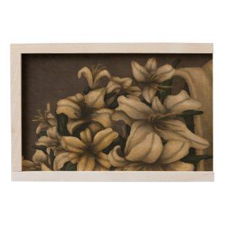 Daylilies wooden box