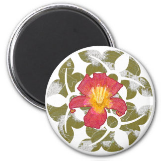 Daylily 2 Inch Round Magnet