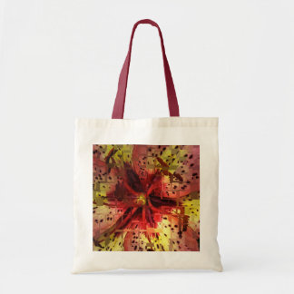 Daylily Abstract Tote Bag