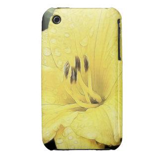 Daylily amarillo brillante iPhone 3 carcasa
