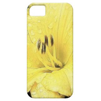 Daylily amarillo brillante iPhone 5 funda