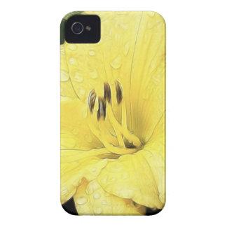 Daylily amarillo brillante iPhone 4 cobertura