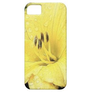 Daylily amarillo brillante iPhone 5 carcasa