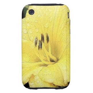 Daylily amarillo brillante iPhone 3 tough funda