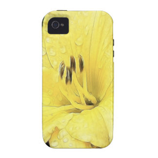 Daylily amarillo brillante iPhone 4/4S fundas