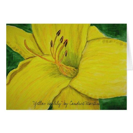 """""""Daylily amarillo"""" por Candice Martin Felicitacion"""