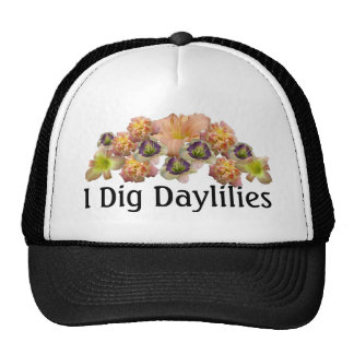 Daylily Collage Cap Mesh Hat