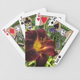 """DAYLILY """"Dominic"""" beaming with Love! --- Bicycle Playing Cards"""